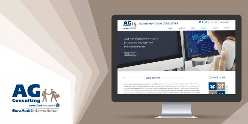 Design and development of AG INTERNATIONAL CONSULTING's website