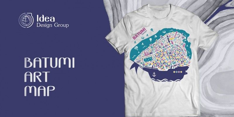 T-SHIRTS WITH BATUMI ILLUSTRATION
