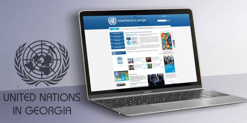 Redesign and modification of the Official Website of the UN mission in Georgia
