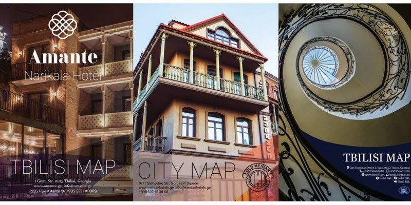 Branded Tbilisi Tourist Map Project 2018