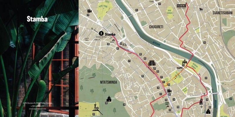 ბრენდირებული ტურისტული რუკები Stamba Hotel-ისთვის