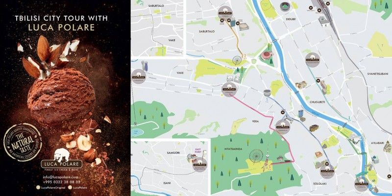 Exclusive Edition of Tbilisi Tourist Maps for LUCA POLARE