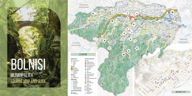 ტურისტული რუკა ბოლნისის მუნიციპალიტეტის მერიისათვის