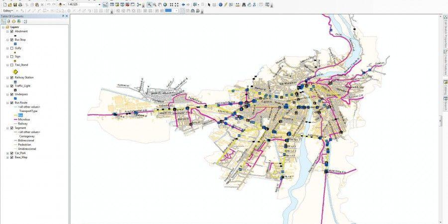 ურბანული ტრანსპორტის მართვის გეოსაინფორმაციო სისტემის შექმნა