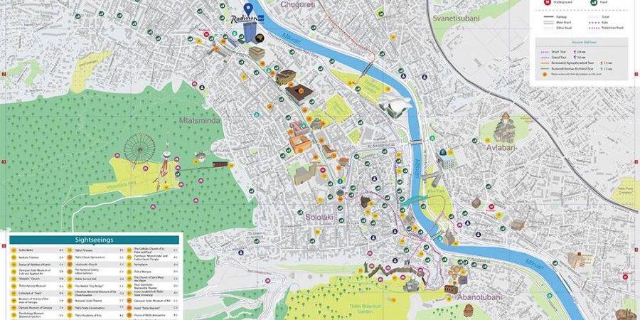 Radisson Blu Iveria-სთვის თბილისის ინგლისური და რუსულენოვანი რუკების სპეციალური გამოცემა