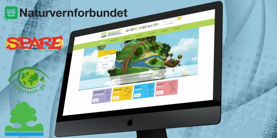 Design and Developmetn of the Kids Logo&Webportal for Environmental Information and Children Education Center LEPL