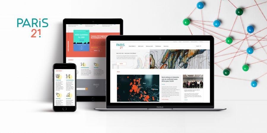 მთავარი გვერდის დიზაინი და დეველოპმენტი Paris 21-სთვის