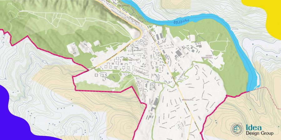 Administrative maps of Krtsanisi district of Tbilisi