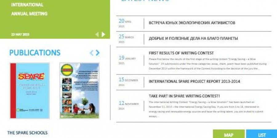 Spare world's web portal design and development and development of project's 11 participating countries websites