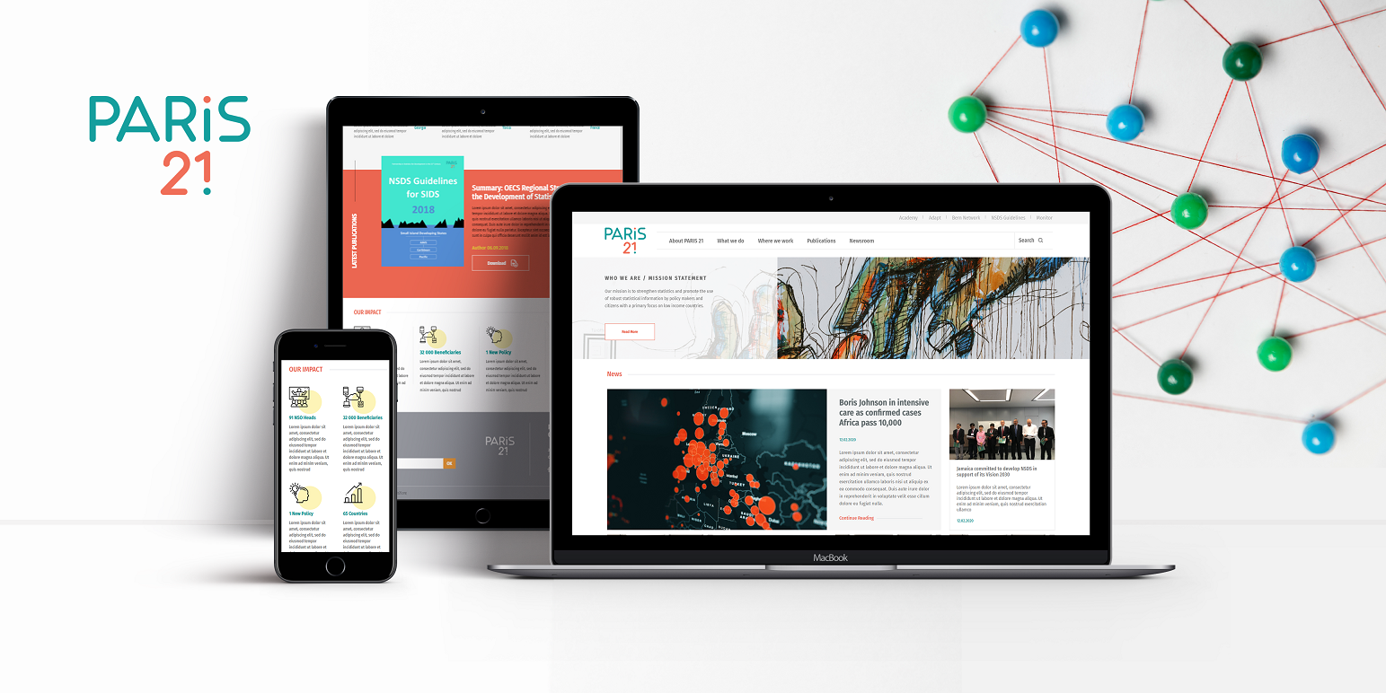 Design and Development of the Paris21 Homepage