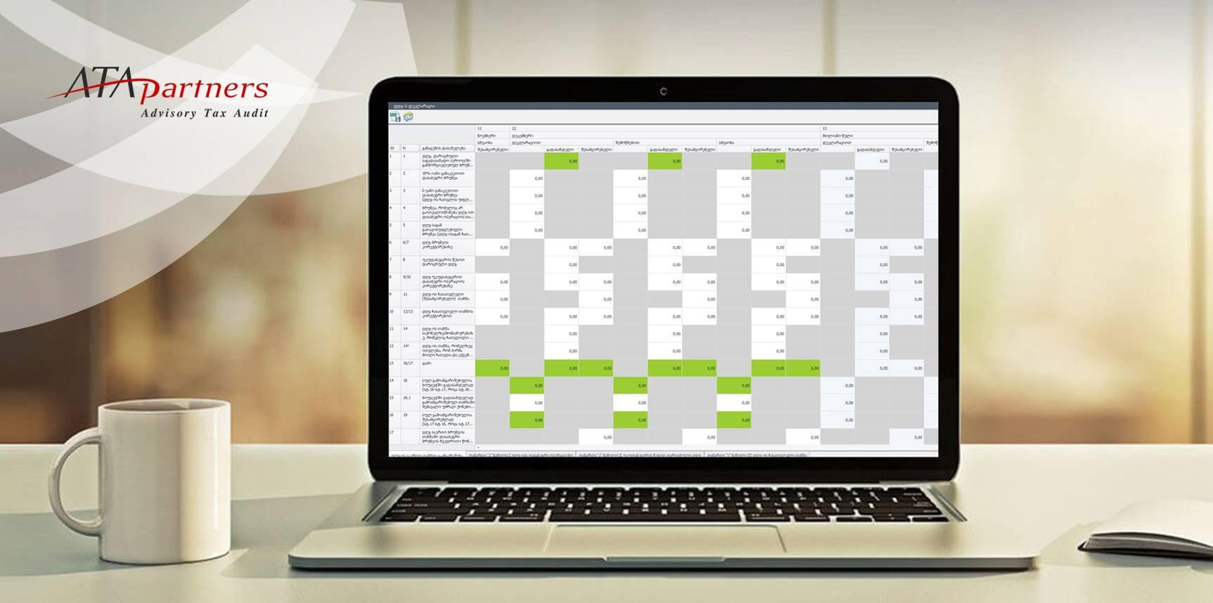 ATA Partners-ის ფინანსური ანალიზის საინფორმაციო სისტემის შექმნა