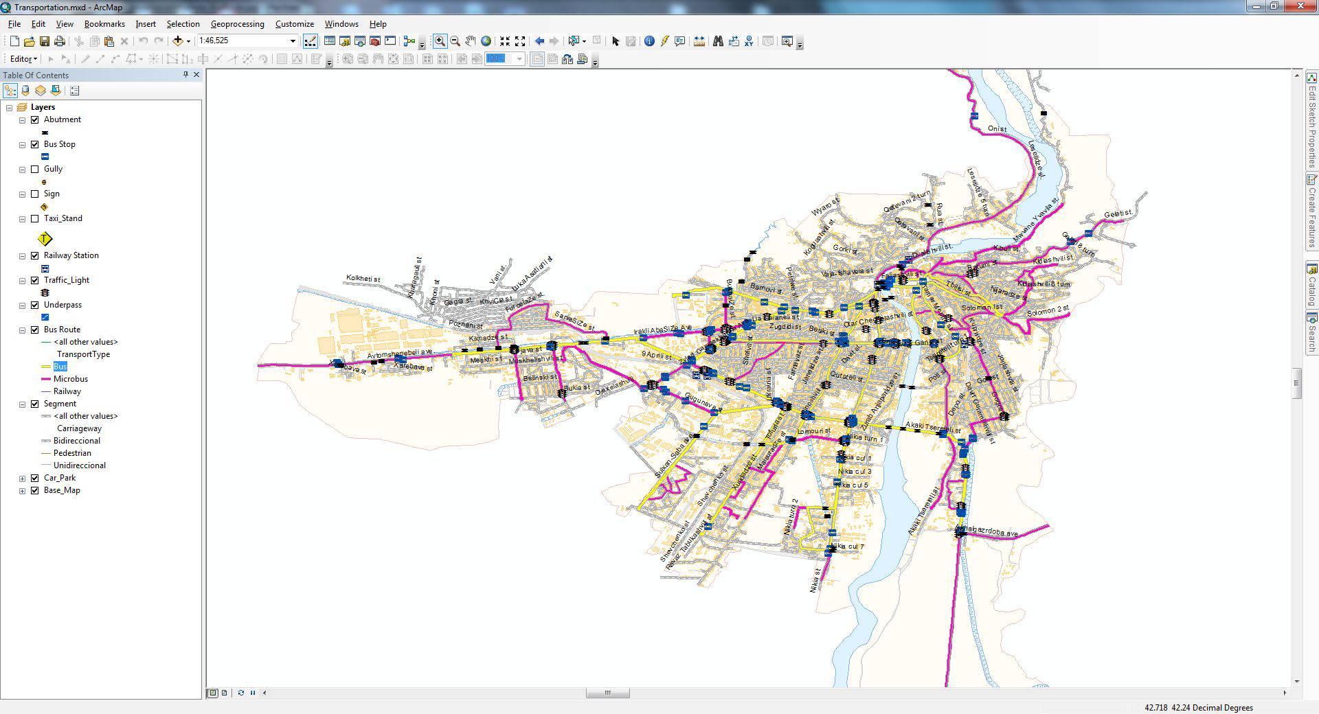 Development of GIS Based Urban Transport Management System